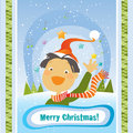 Boy christmas card Royalty Free Stock Photo