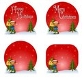 Boy Christmas Gift Logos Stock Photo