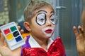 Boy clown Royalty Free Stock Photo