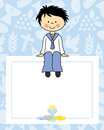 Boy communion card Royalty Free Stock Photo