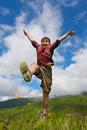 Boy dances Royalty Free Stock Photo