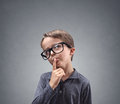 Boy deep in thought Royalty Free Stock Photo