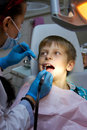 Boy in a dental surgery young Royalty Free Stock Image