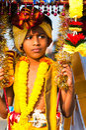 Boy devotee Stock Image