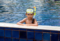 Boy diver Royalty Free Stock Images