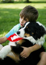 Boy and dog Royalty Free Stock Photo