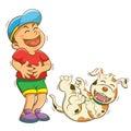 Ragazzo e cane
