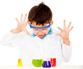 Boy doing experiments Royalty Free Stock Photos