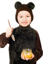 Boy dressed as bear Royalty Free Stock Photo