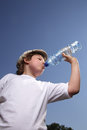 Boy drink water Royalty Free Stock Image
