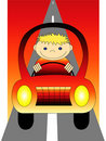 Boy driving car Royalty Free Stock Photography
