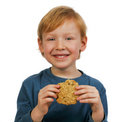 Boy eating cookie Royalty Free Stock Images