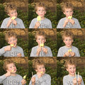 Boy eating IceLolly Royalty Free Stock Photography
