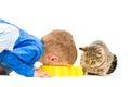 Boy Eats A Bowl Of Cat
