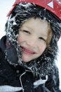 Boy enjoying winter weather Royalty Free Stock Photo