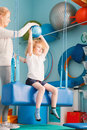 Boy exercising with ball Royalty Free Stock Photo