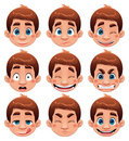 Boy Expressions. Stock Photo