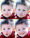 Boy expressions Stock Photography