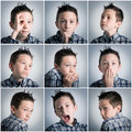 Boy expressions Royalty Free Stock Photo
