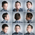 Boy expressions Stock Image