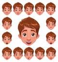 Chlapec výrazy okraj synchronizovať
