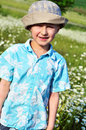 Boy in field Royalty Free Stock Images
