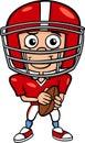Boy Football Player Cartoon Il...