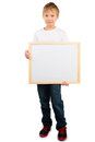 Boy and a Frame with Copyspace Royalty Free Stock Photo