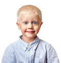 Boy with a funny face Royalty Free Stock Photos