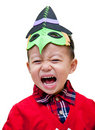 Boy with a funny mask Royalty Free Stock Photo