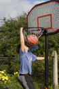 Boy game of basketball Royalty Free Stock Images