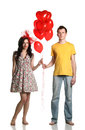 Boy and girl with balloons Royalty Free Stock Photography