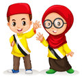 Boy and girl from brunei illustration Royalty Free Stock Photo