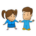 Boy and girl cartoon vector Royalty Free Stock Image