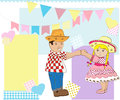 Boy and girl dancing Royalty Free Stock Photo