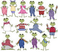 Boy & Girl Frogs Stock Photography