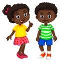 Boy and girl from Haiti Royalty Free Stock Photo
