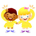 Boy and girl is have a headache education and life character de design series Stock Photography