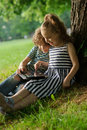 Boy and girl looking at the laptop screen. Royalty Free Stock Photo