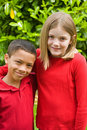 Boy and girl of mixed races Royalty Free Stock Photos