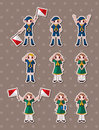 Boy/girl scout stickers Royalty Free Stock Photo