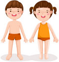 Boy and girl standing Stock Photography
