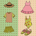 Boy and girl summer clothing Royalty Free Stock Photos