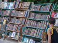 stock image of  The market of old books In Havana