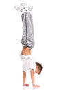 Boy gymnastic Stock Photography