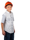 Boy with hard hat Royalty Free Stock Photos