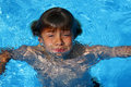 Boy having fun in swimming pool Royalty Free Stock Images