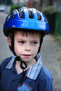 Boy with helmet Royalty Free Stock Photography