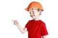 Boy in a helmet Royalty Free Stock Photo