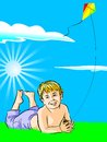 Boy with his kite